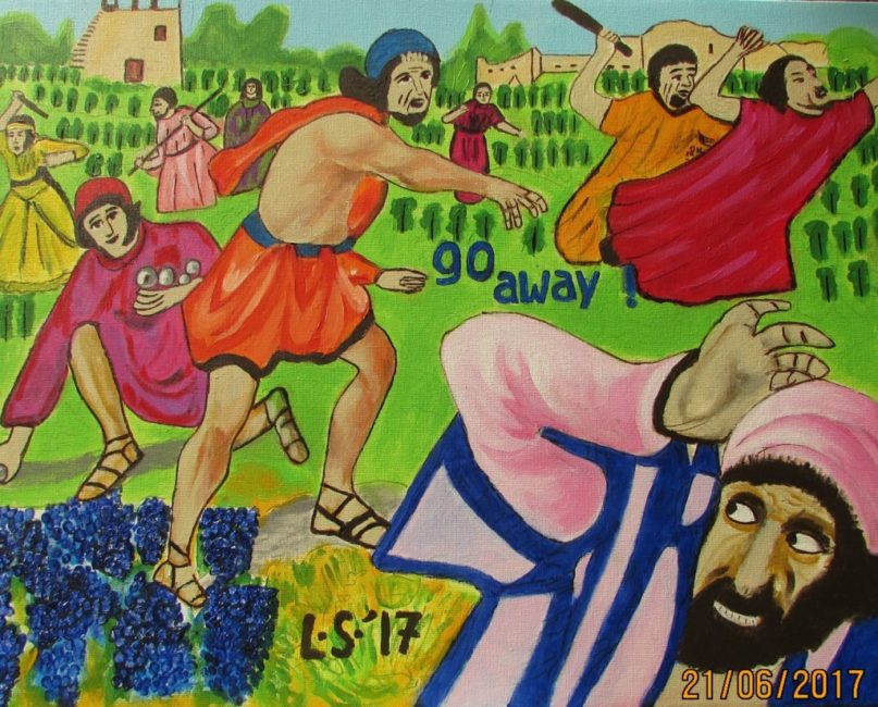 Lukisan CXXIX – Title: The Son and The Vineyard; Go Away!