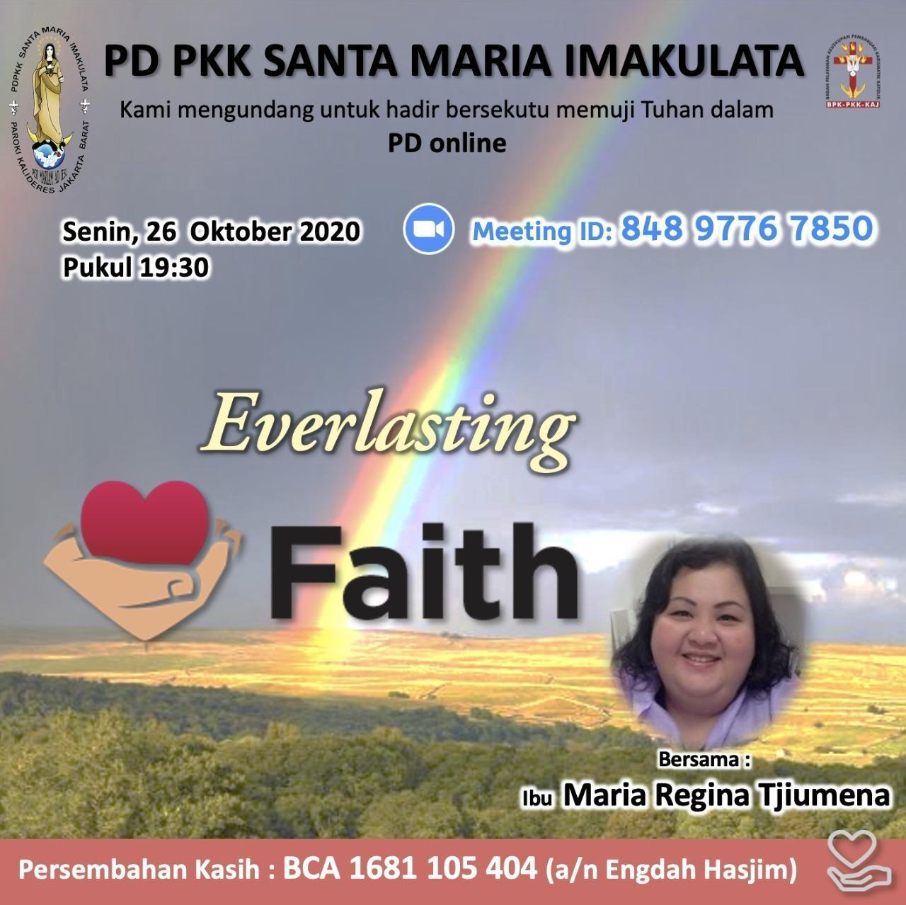 "PD PKK Santa Maria Imakulata Gelar ""Everlasting Faith"", 26 Oktober"