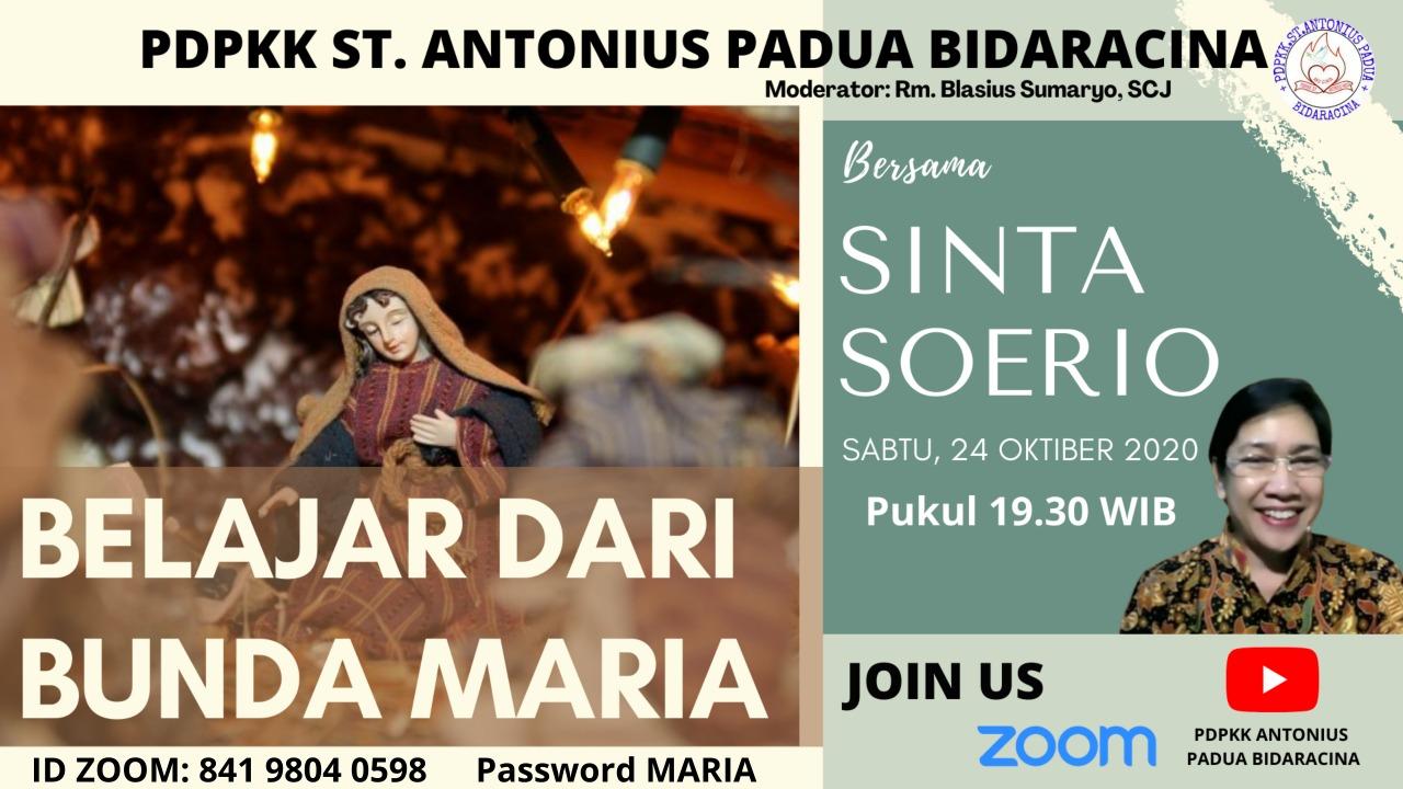 PDPKK Santo Antonius Padua, Bidaracina – Jakarta Sabtu, 24 Oktober 2020 Pukul 19:30 (Open Room)