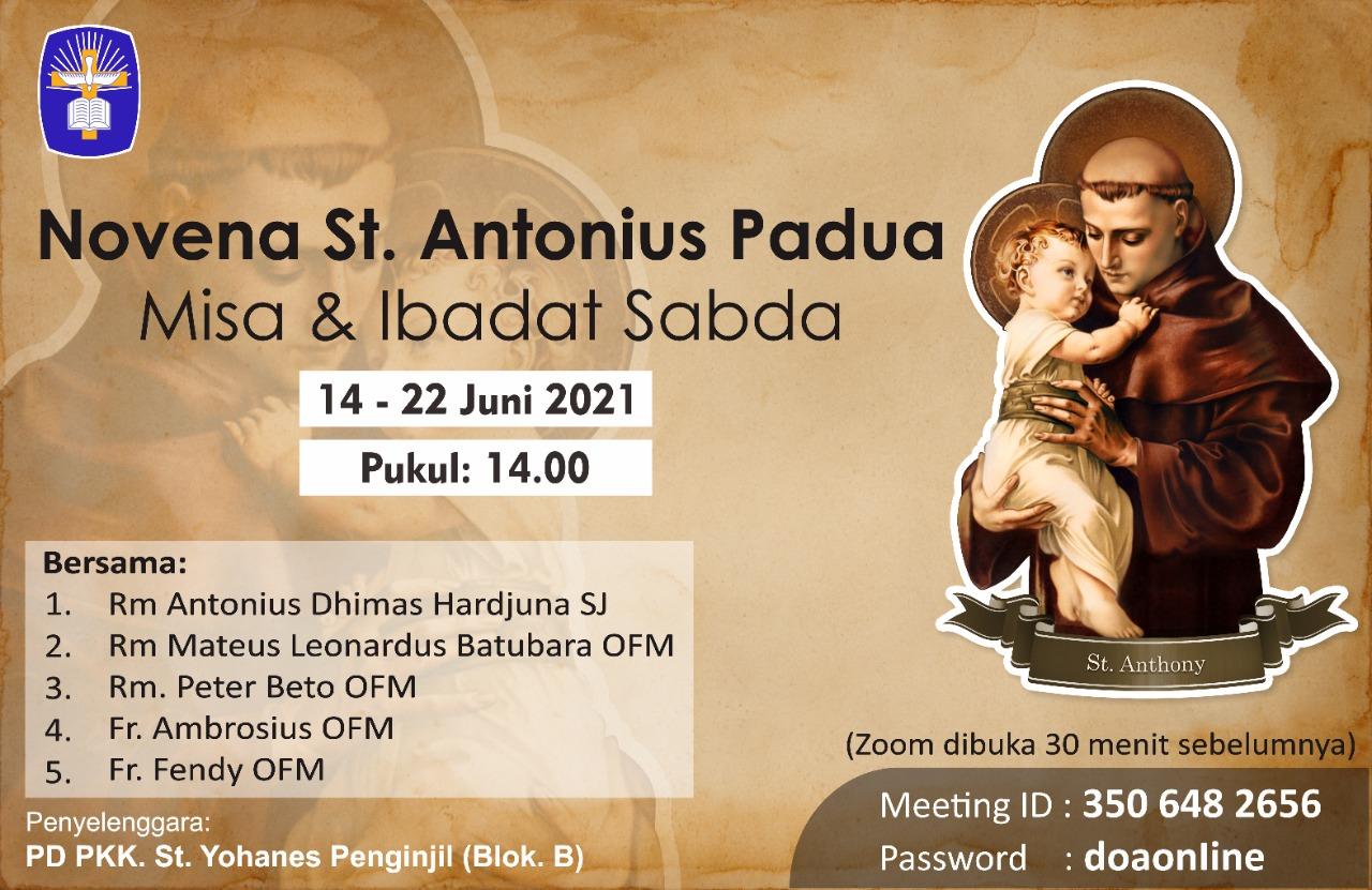 Novena St. Antonius Padua Misa & Ibadat Sabda