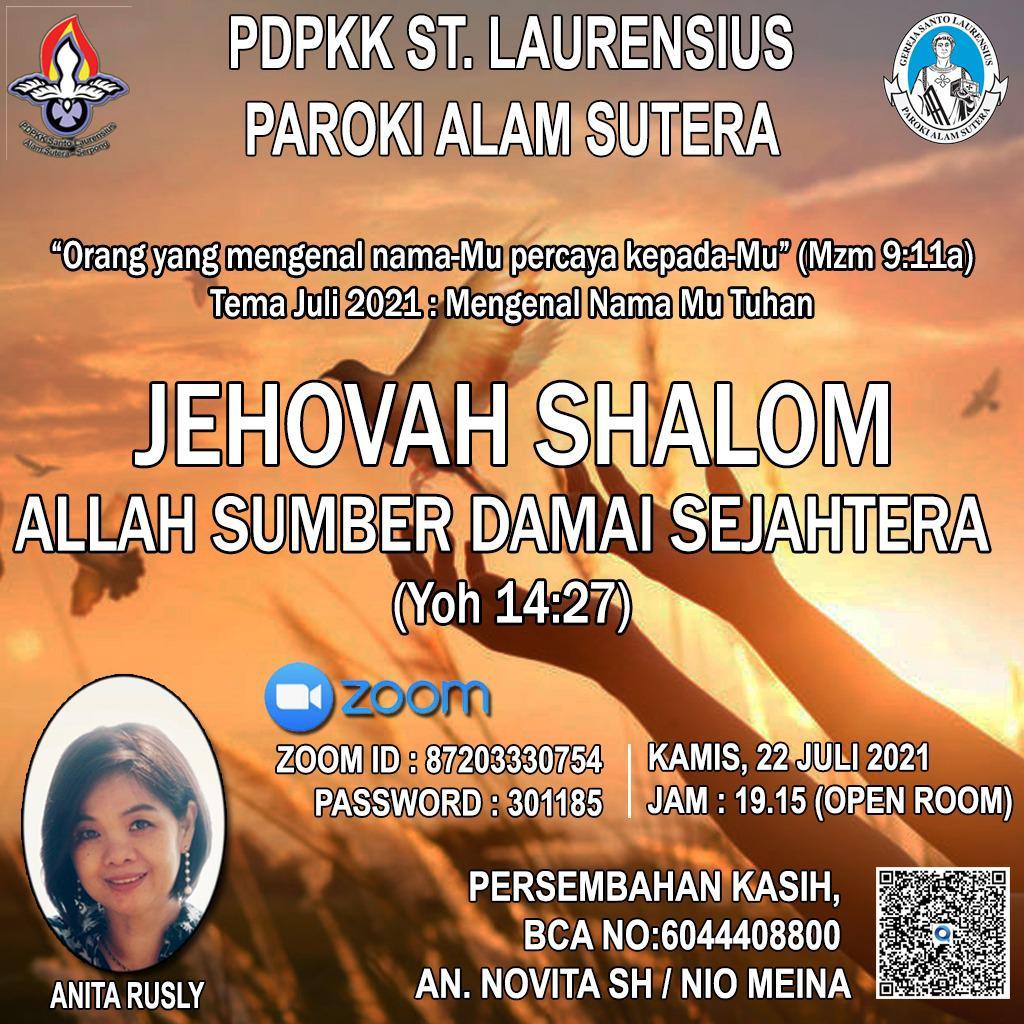 Jehovah Shalom (Allah Sumber Damai Sejahtera)