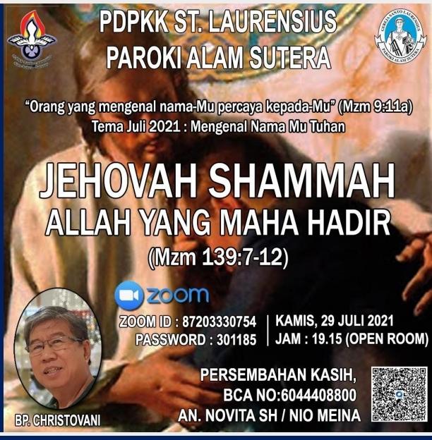 Jehovah Shammah – Allah Maha Hadir